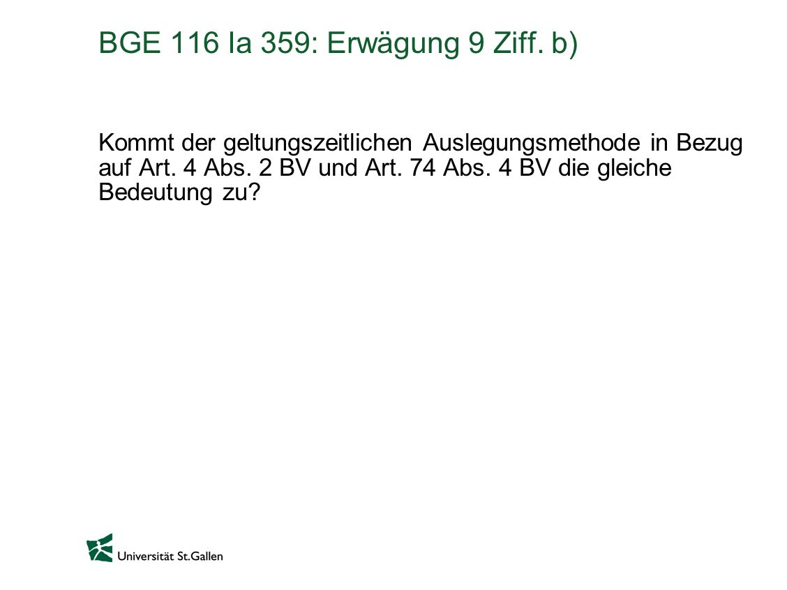 BGE 116 Ia 359: Erwägung 9 Ziff. b)