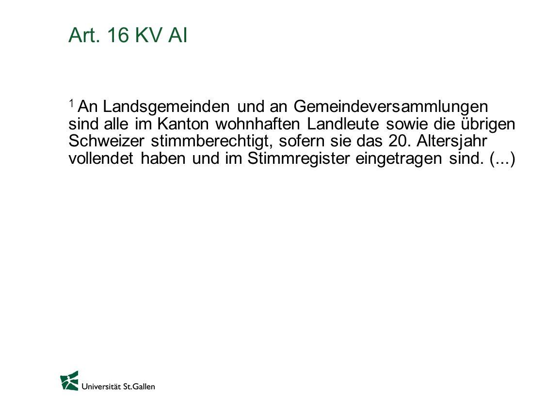 Art. 16 KV AI