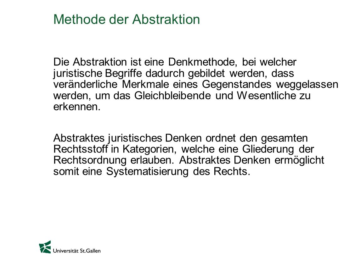 Methode der Abstraktion