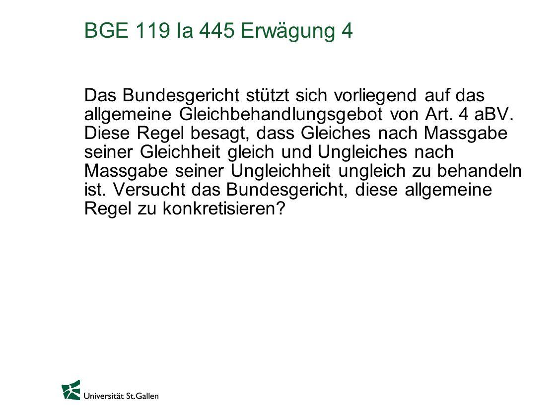 BGE 119 Ia 445 Erwägung 4