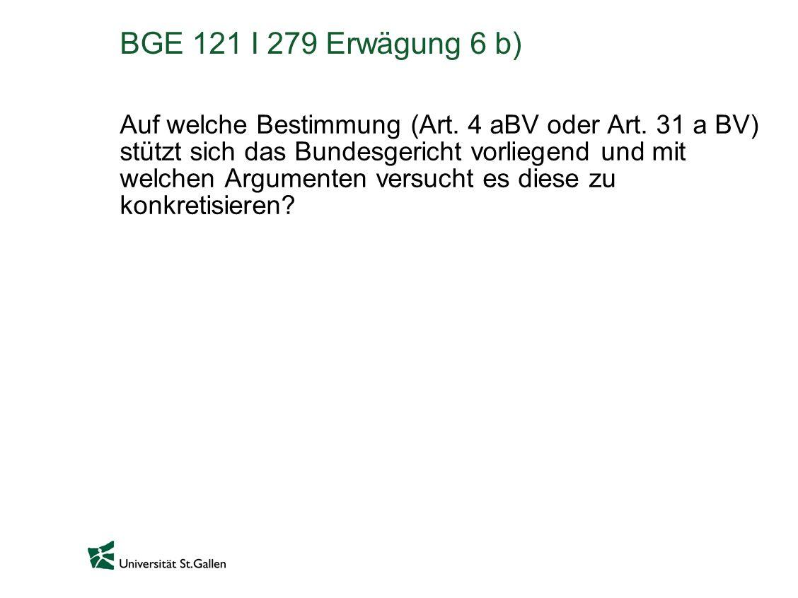 BGE 121 I 279 Erwägung 6 b)