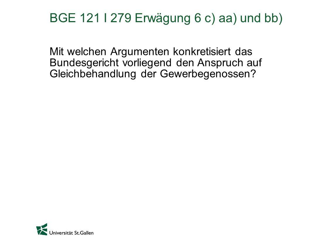 BGE 121 I 279 Erwägung 6 c) aa) und bb)