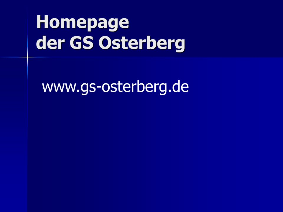 Homepage der GS Osterberg