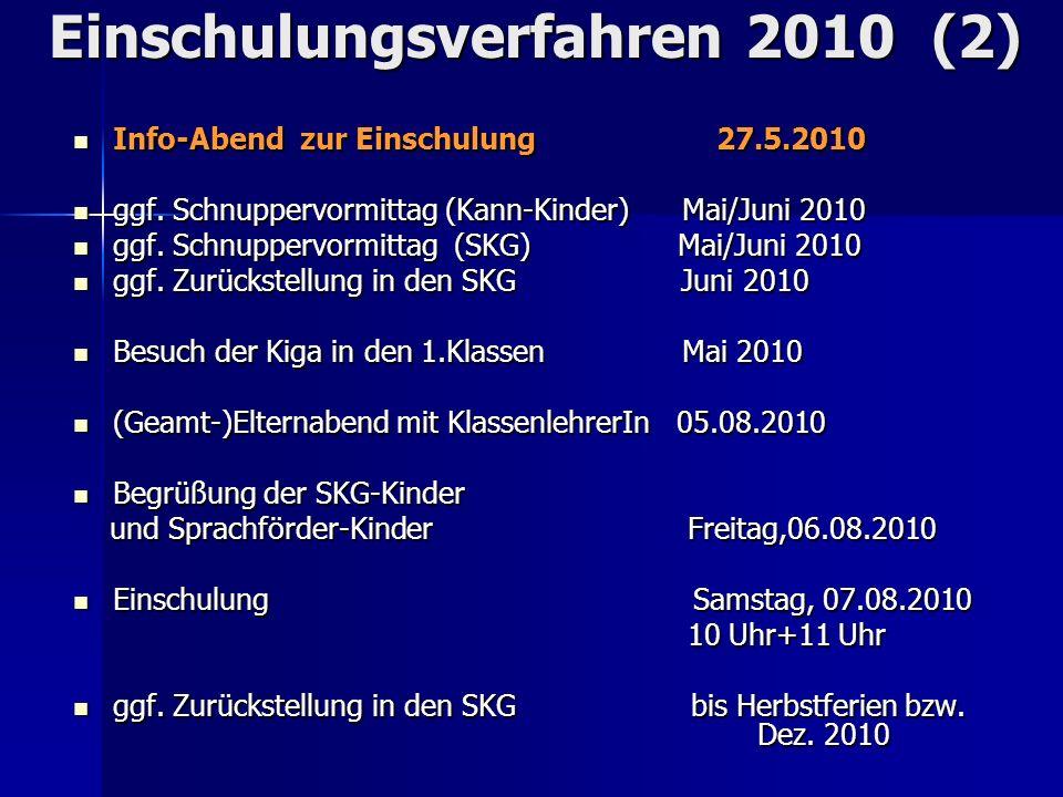 Einschulungsverfahren 2010 (2)