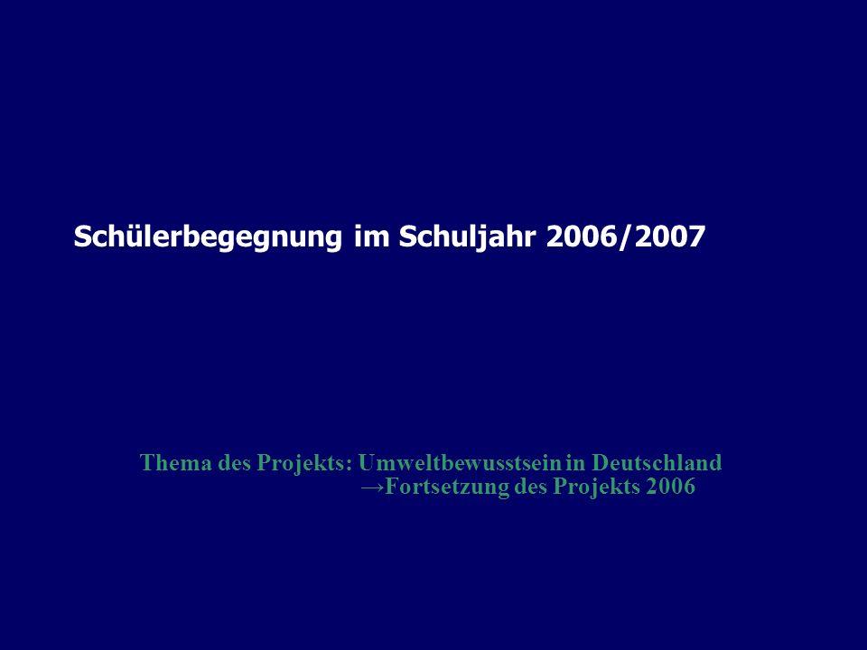 Schülerbegegnung im Schuljahr 2006/2007