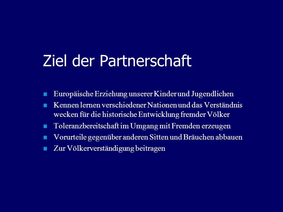 Ziel der Partnerschaft
