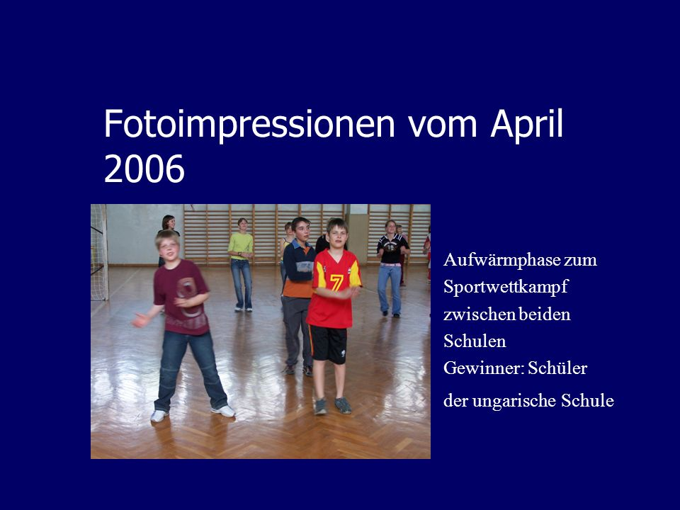 Fotoimpressionen vom April 2006
