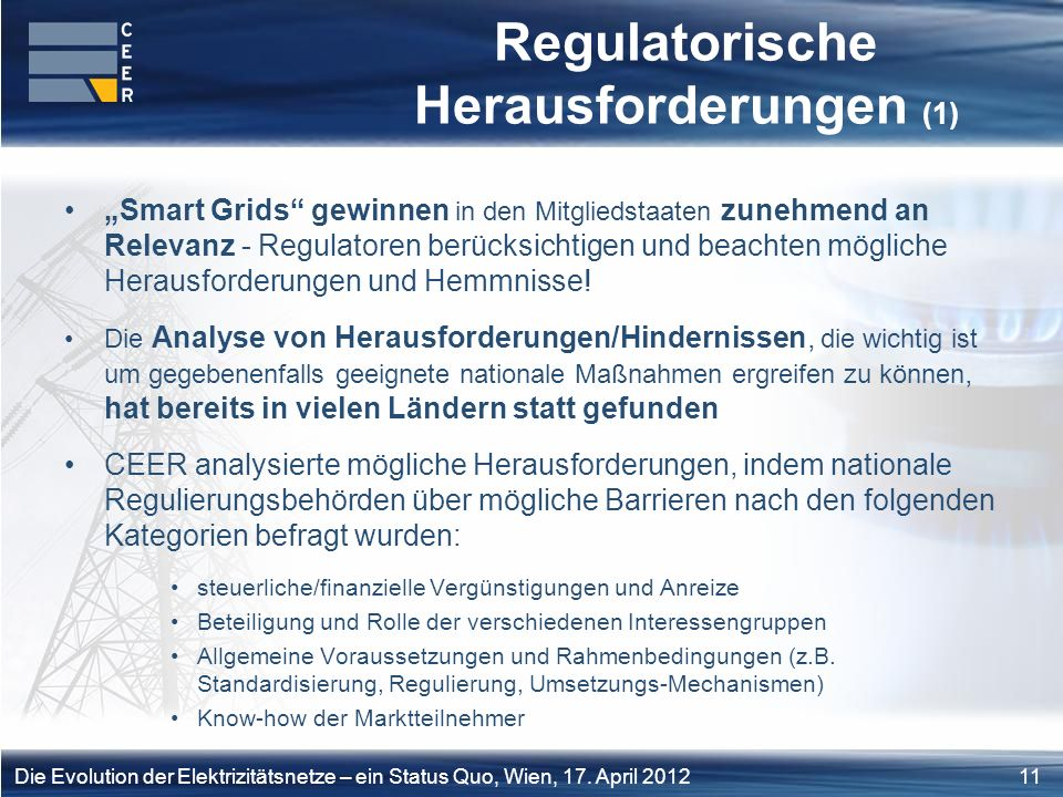 Regulatorische Herausforderungen (1)