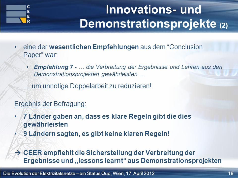 Innovations- und Demonstrationsprojekte (2)