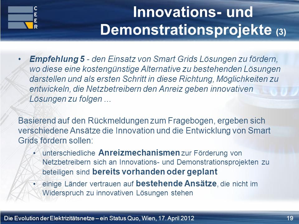 Innovations- und Demonstrationsprojekte (3)
