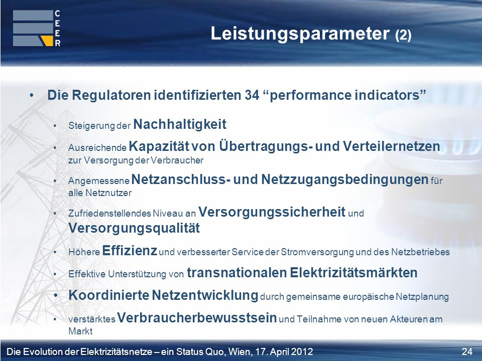 Leistungsparameter (2)