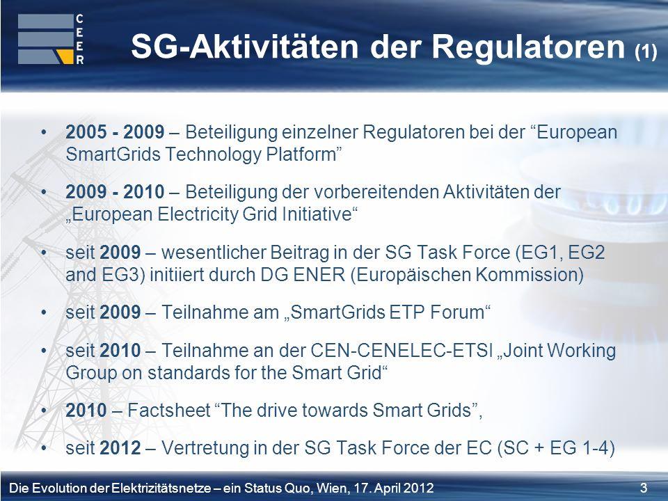 SG-Aktivitäten der Regulatoren (1)