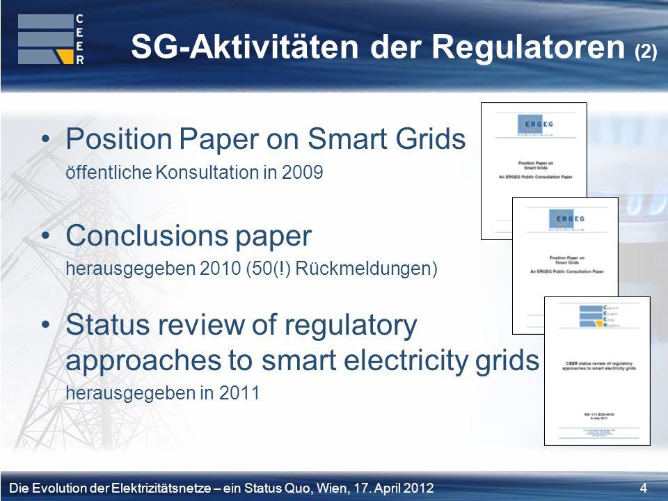 SG-Aktivitäten der Regulatoren (2)