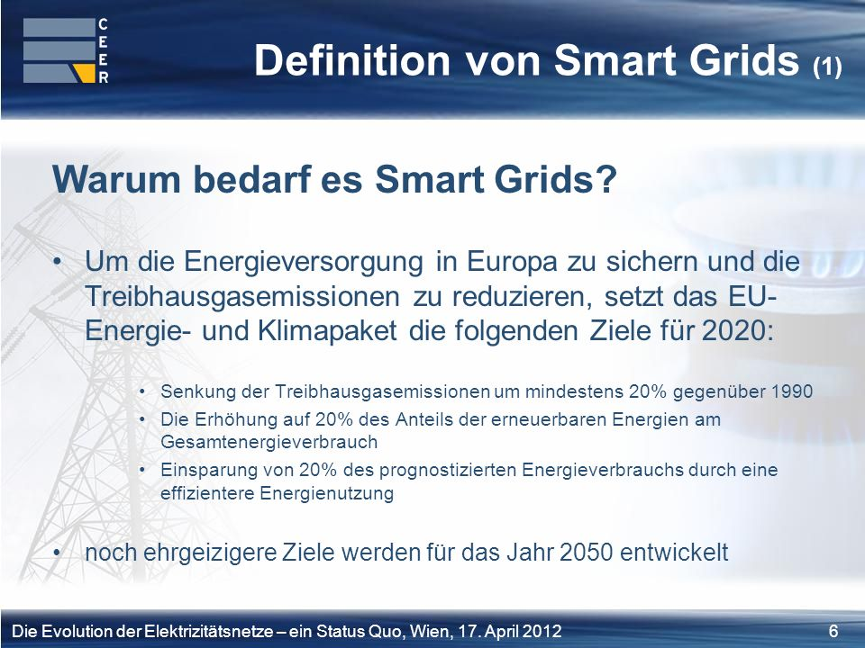Definition von Smart Grids (1)