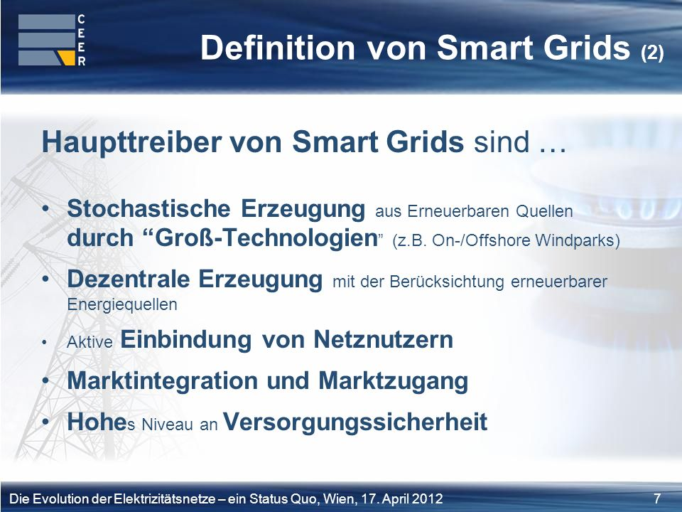 Definition von Smart Grids (2)