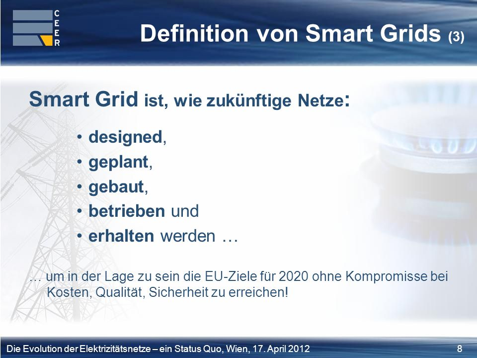 Definition von Smart Grids (3)