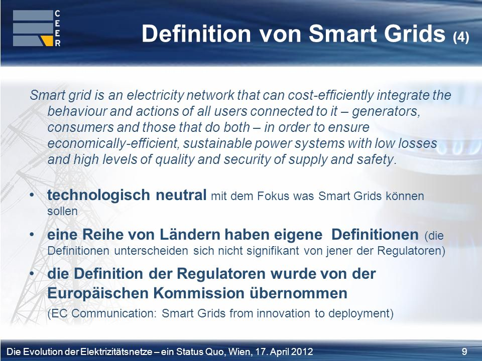 Definition von Smart Grids (4)
