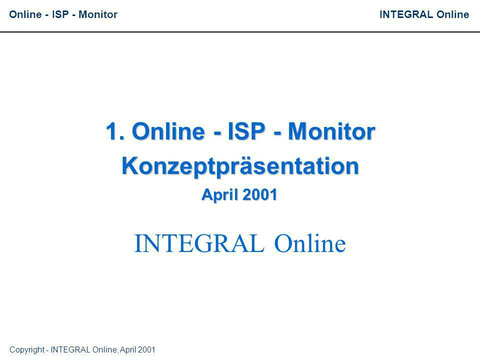 1. Online - ISP - Monitor Konzeptpräsentation April 2001