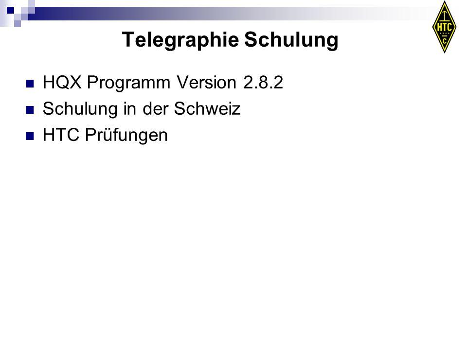 Telegraphie Schulung HQX Programm Version 2.8.2