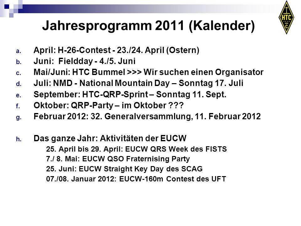 Jahresprogramm 2011 (Kalender)