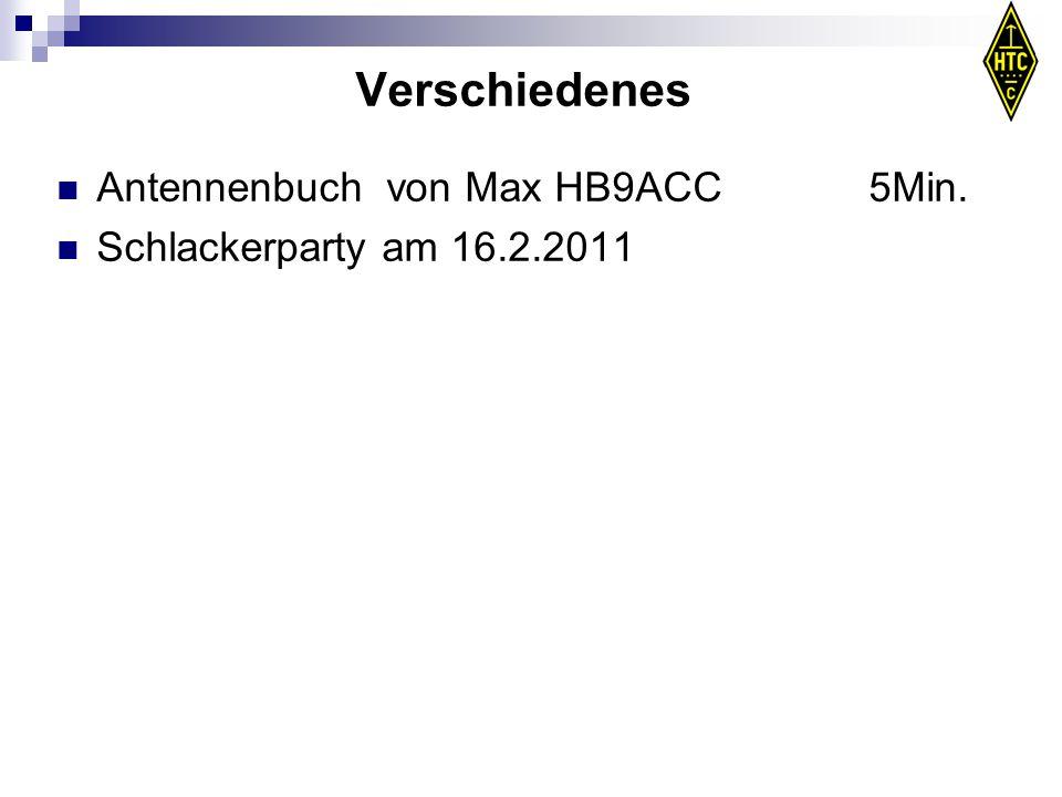 Verschiedenes Antennenbuch von Max HB9ACC 5Min.