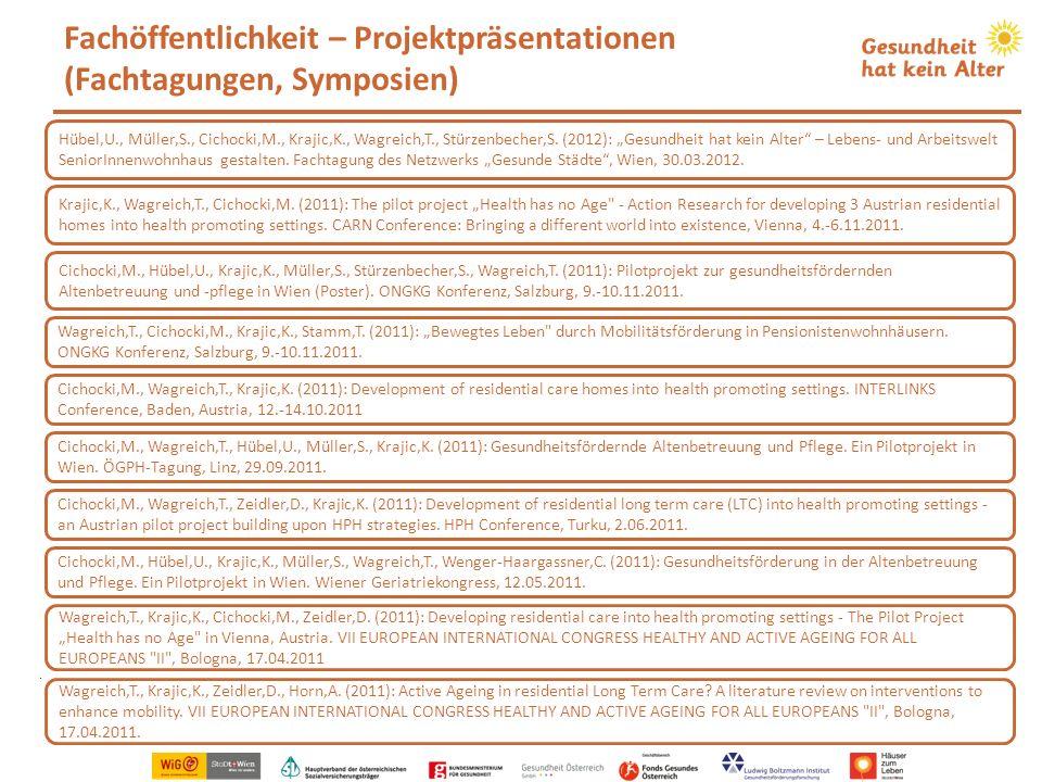 Fachöffentlichkeit – Projektpräsentationen (Fachtagungen, Symposien)