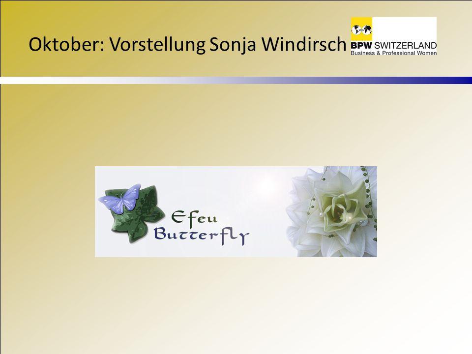 Oktober: Vorstellung Sonja Windirsch