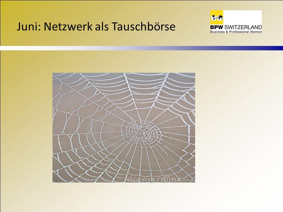 Juni: Netzwerk als Tauschbörse