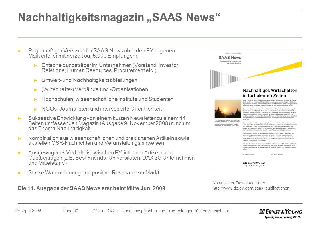 """Nachhaltigkeitsmagazin """"SAAS News"""