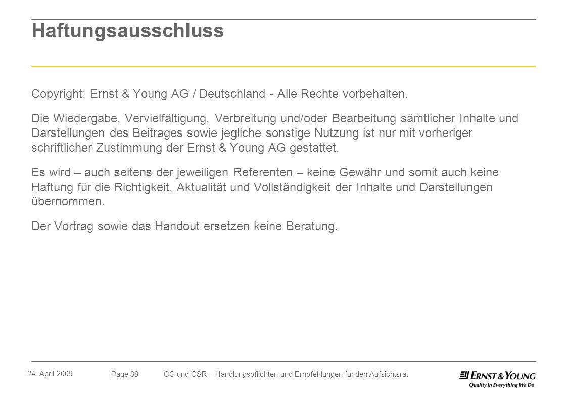 Haftungsausschluss Copyright: Ernst & Young AG / Deutschland - Alle Rechte vorbehalten.