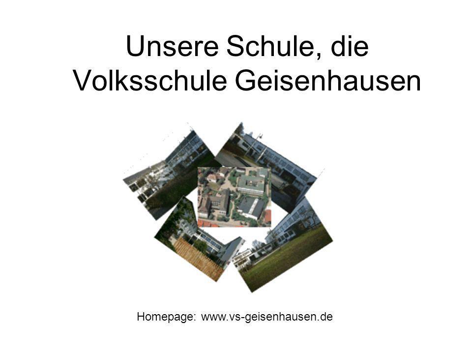 Unsere Schule, die Volksschule Geisenhausen