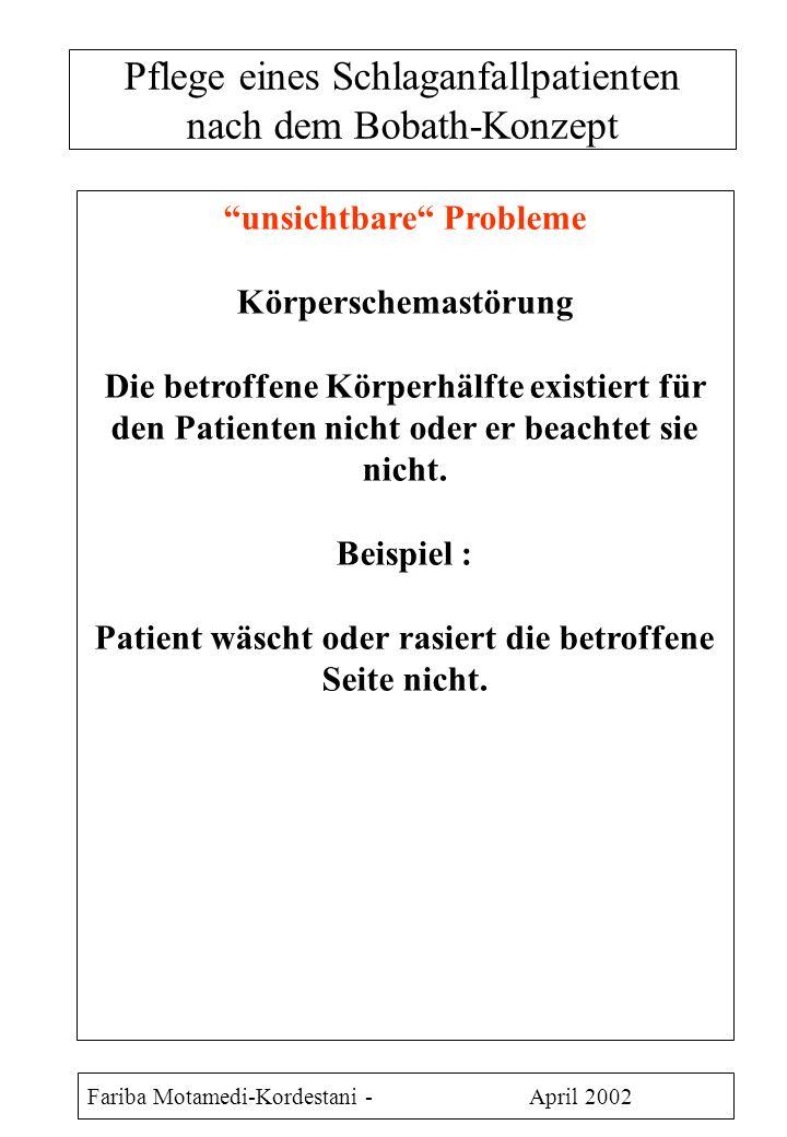Pflege eines Schlaganfallpatienten nach dem Bobath-Konzept
