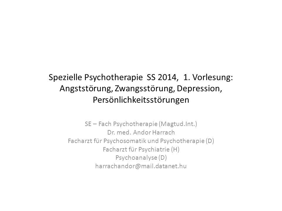 Spezielle Psychotherapie SS 2014, 1