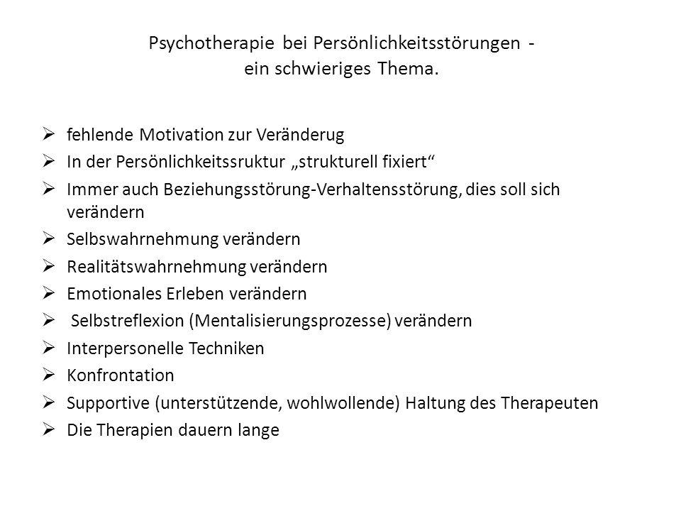 Psychotherapie bei Persönlichkeitsstörungen - ein schwieriges Thema.