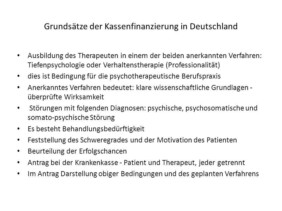 Grundsätze der Kassenfinanzierung in Deutschland