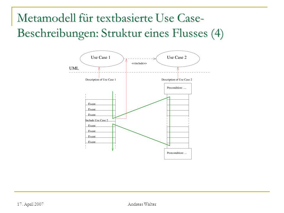 Metamodell für textbasierte Use Case-Beschreibungen: Struktur eines Flusses (4)