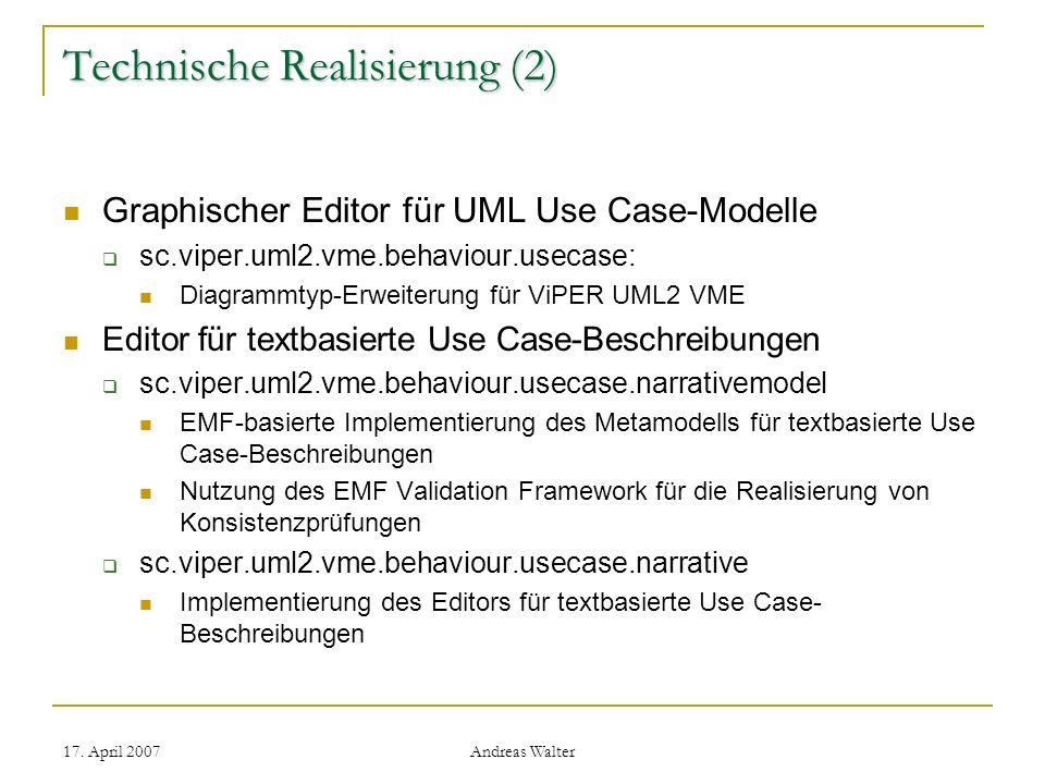 Technische Realisierung (2)