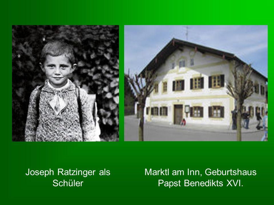 Joseph Ratzinger als Schüler