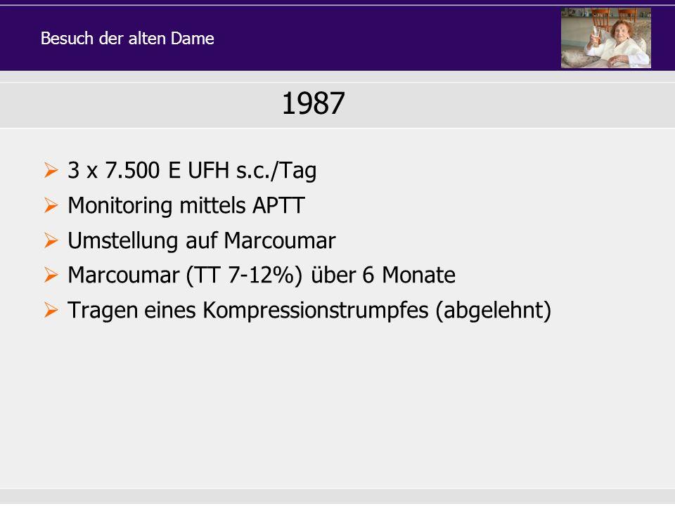 1987 3 x 7.500 E UFH s.c./Tag Monitoring mittels APTT