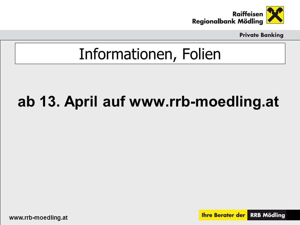 ab 13. April auf www.rrb-moedling.at