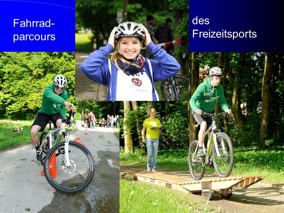 des Freizeitsports Fahrrad-parcours
