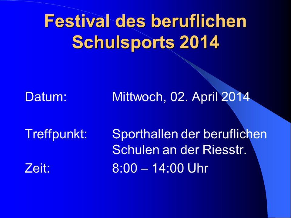 Festival des beruflichen Schulsports 2014