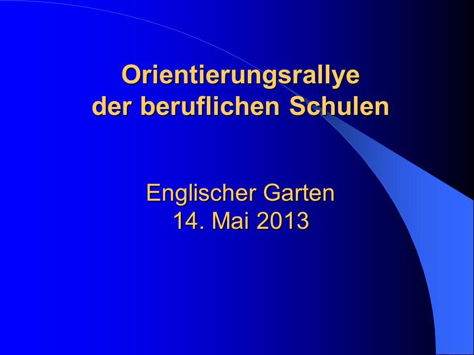 Orientierungsrallye der beruflichen Schulen Englischer Garten 14