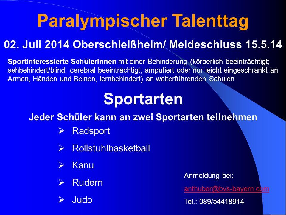 Paralympischer Talenttag