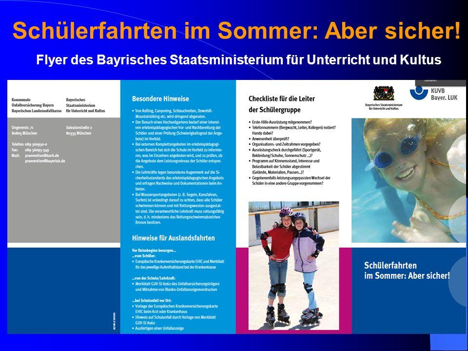 Flyer des Bayrisches Staatsministerium für Unterricht und Kultus