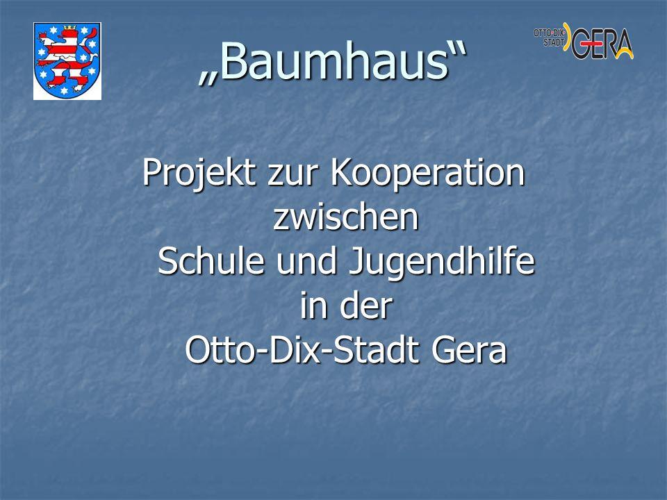 """""""Baumhaus Projekt zur Kooperation zwischen Schule und Jugendhilfe in der Otto-Dix-Stadt Gera"""