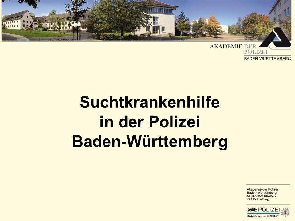 Suchtkrankenhilfe in der Polizei Baden-Württemberg
