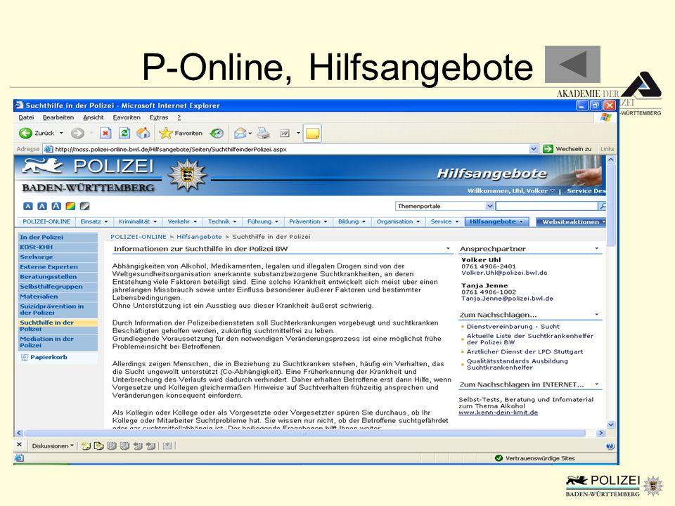 P-Online, Hilfsangebote