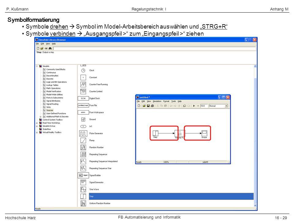 """Symbolformatierung Symbole drehen  Symbol im Model-Arbeitsbereich auswählen und """"STRG+R"""