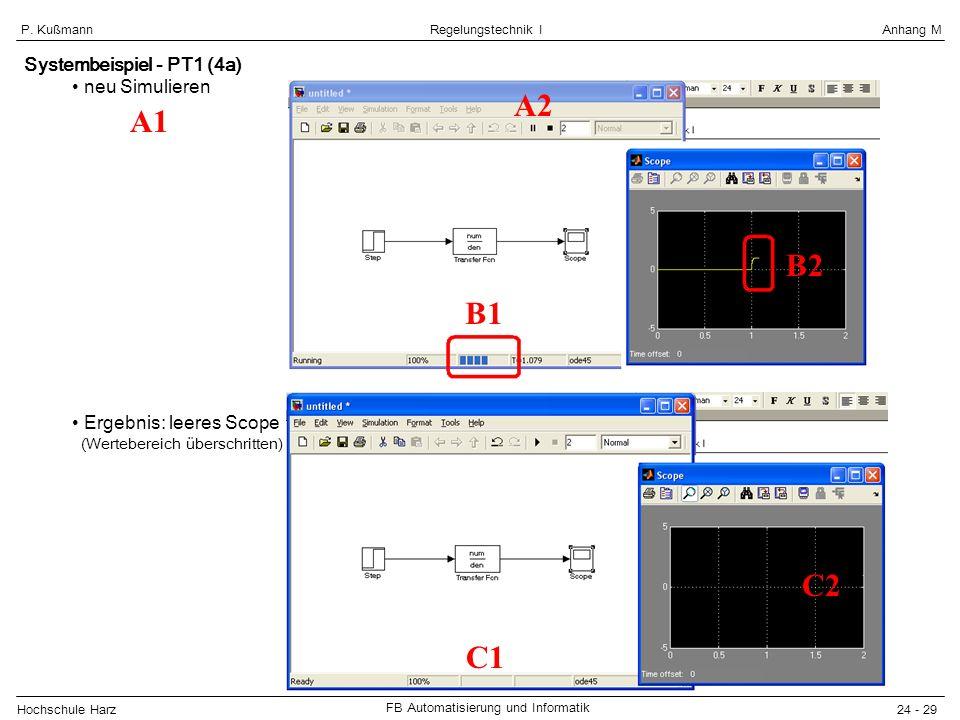 A2 A1 B2 B1 C2 C1 Systembeispiel - PT1 (4a) neu Simulieren